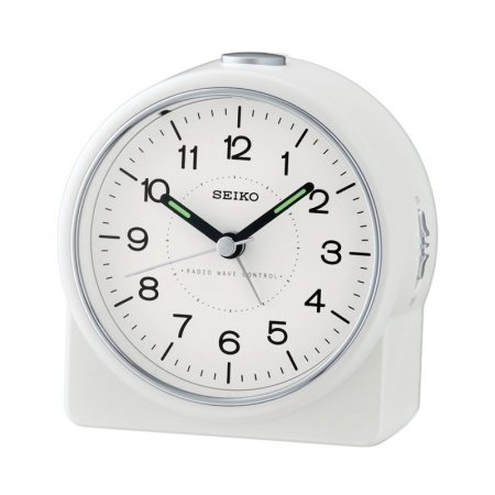 seiko clock qhr202w funk wecker weiss 49 00. Black Bedroom Furniture Sets. Home Design Ideas