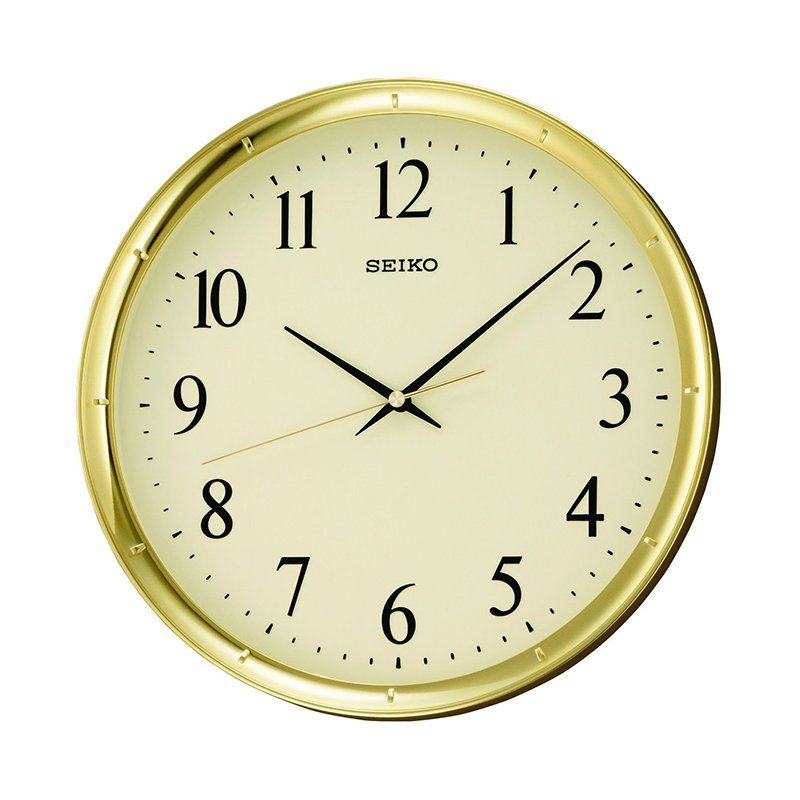 seiko clocks qxa417g wand uhr gold 39 00. Black Bedroom Furniture Sets. Home Design Ideas